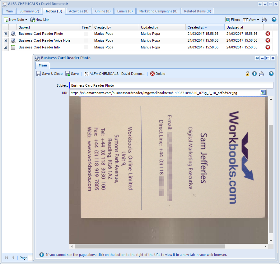 Import business card data into workbooks in just two clicks saving magneticone0g reheart Image collections