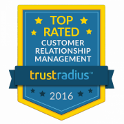large 2016 TopRatedBadge CustomerRelationshipManagement 0 Workbooks CRM named a 2016 Top Rated CRM Platform by Software Users on TrustRadius