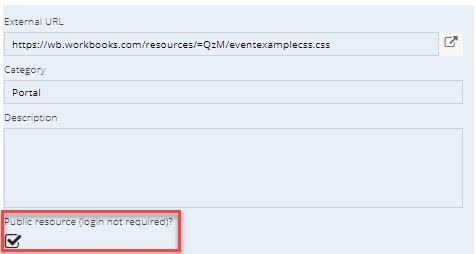 Adding Custom CSS to the Event Portal   Workbooks CRM