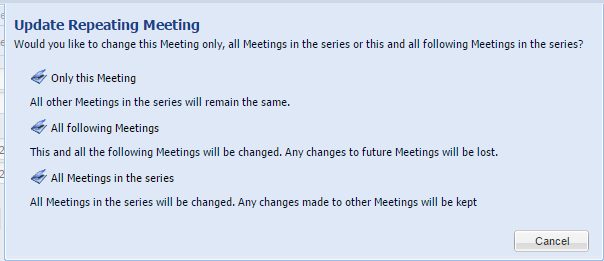 Update Repeating Meeting