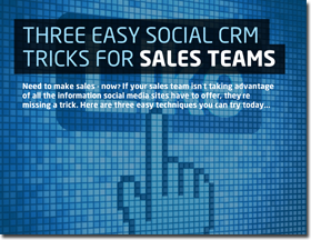 Three easy social CRM tricks for sales teams