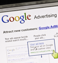 <Measuring the value of Google Adwords with a web-based CRM system