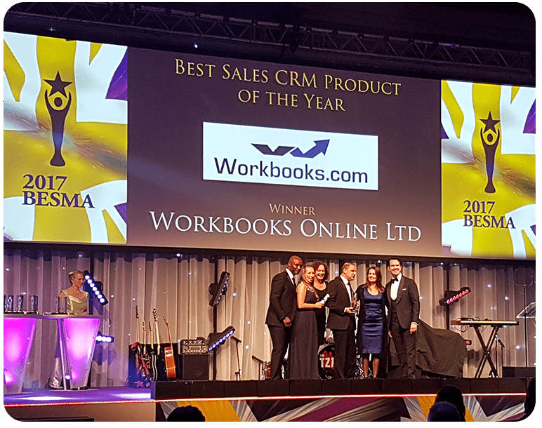 <Workbooks wins Best Sales CRM Product at 2017 BESMA