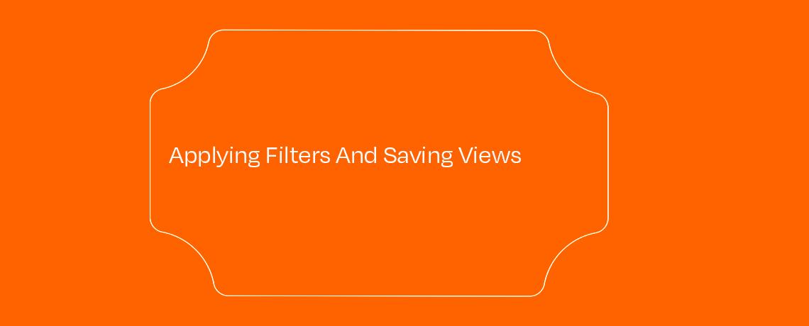 <Applying Filters And Saving Views
