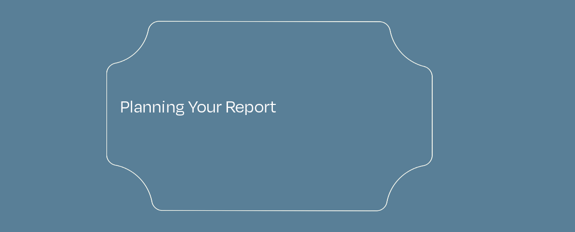<Planning Your Report