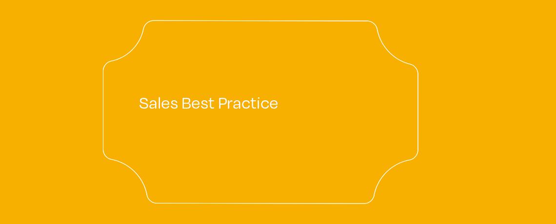 <Sales Best Practice