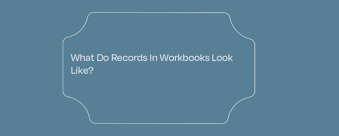 <What Do Records In Workbooks Look Like?