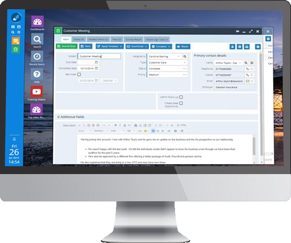 account management desktop customer care