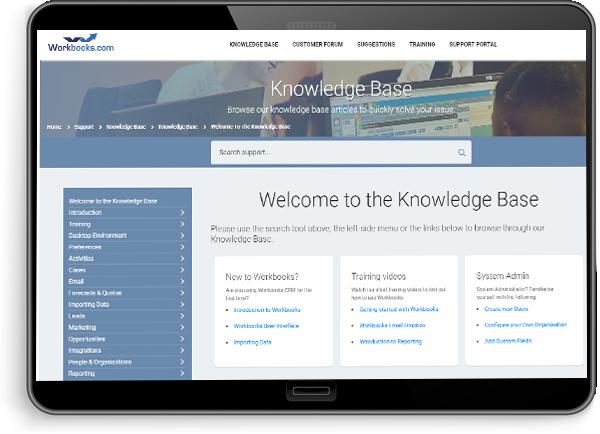 knowledge base tablet