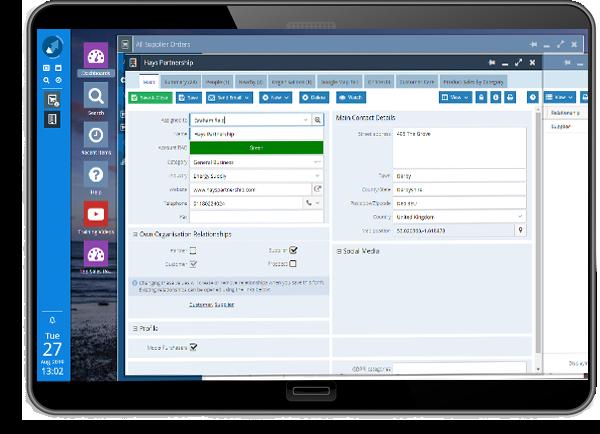 supplier management tablet